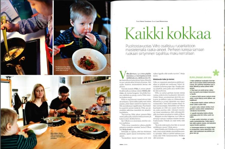 Vauva-lehden 4/2011 juttu